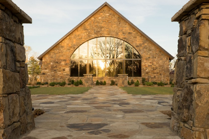 Outside view of chapel and rose garden, Lisa White Photography